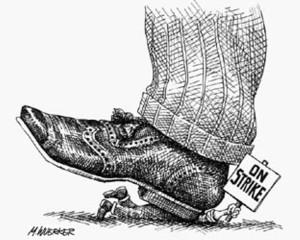 Betriebsräte bekäpfen union-busting-shoe1